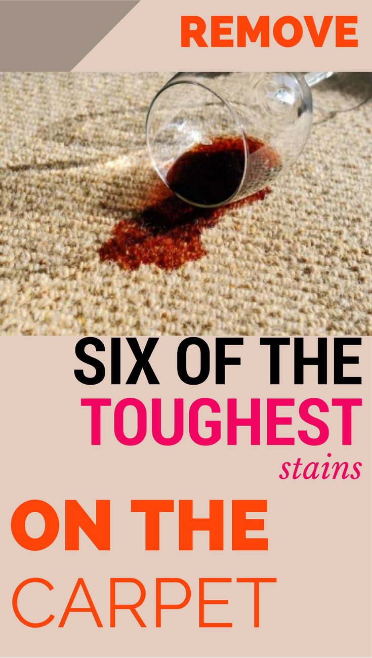 Remove Six Of The Toughest Stains On The Carpet